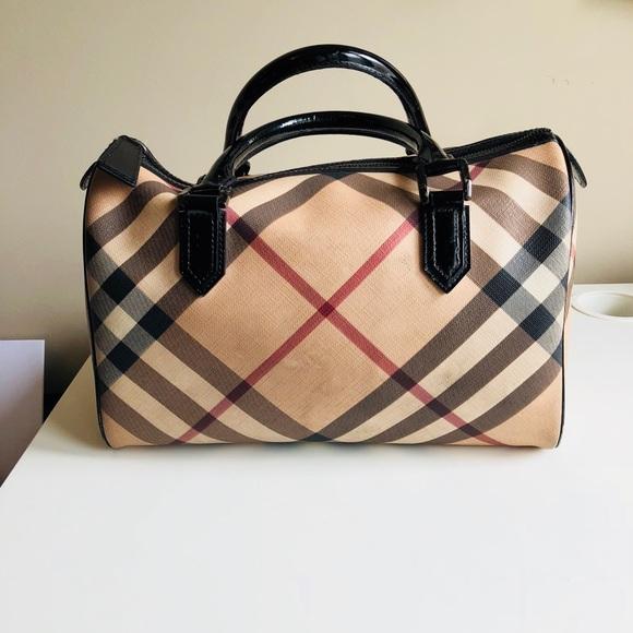 6f89a2f10a58 Burberry Handbags - Burberry Supernova Check Chester Bowling Bag